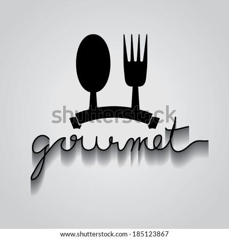 gourmet typo vector, EPS 10 - stock vector