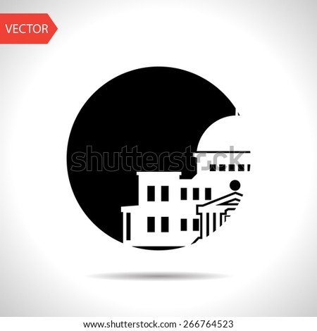 government building icon - stock vector