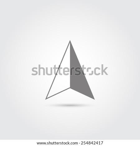 GPS arrow icon - Vector - stock vector