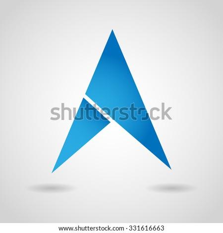 Gps Arrow Navigation Icon - stock vector