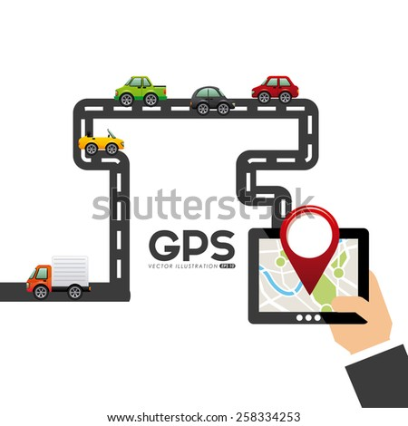 gps navigation design, vector illustration eps10 graphic  - stock vector