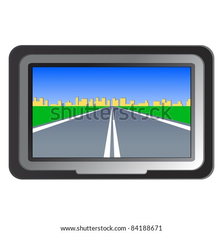 GPS navigation - vector illustration. Rasterized version also available in gallery - stock vector