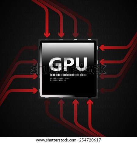 GPU | EPS10 Vector - stock vector