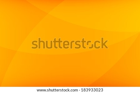 gradient of orange color with abstract line curve background (vector) - stock vector