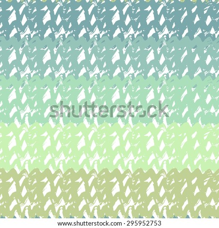 Gradient seamless pattern in turquoise sea colors. Hand drawn vector texture for background, textile, fabric - stock vector