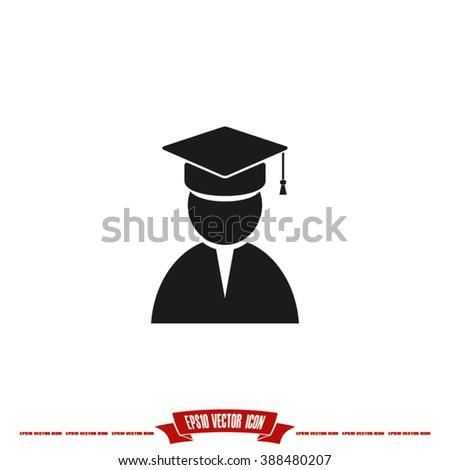 Graduate icon vector illustration eps10 - stock vector