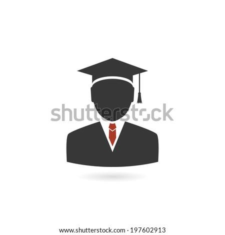 graduated concept. vector icon. eps10 - stock vector