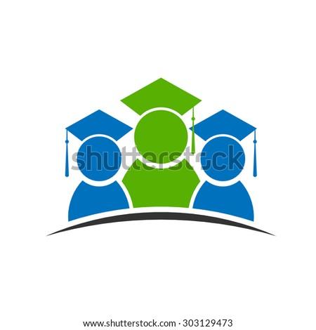 Graduation class student logo - stock vector
