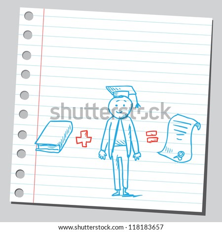 Graduation concept - stock vector