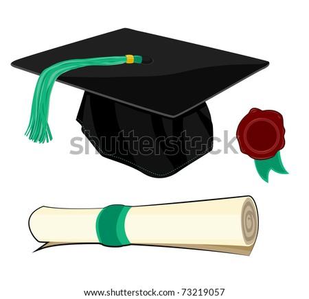 Graduation Elements - stock vector