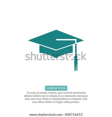 Graduation Icon - stock vector