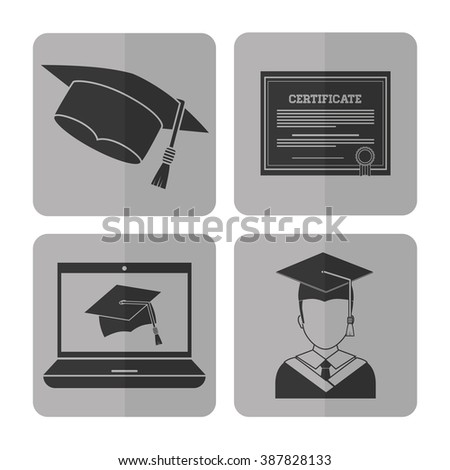 Graduation icon design  - stock vector