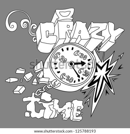 Graffiti art illustration - stock vector