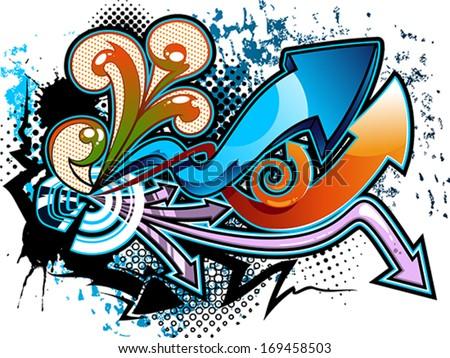 Graffiti background - stock vector