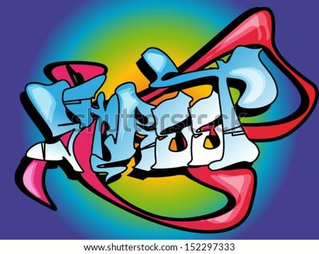 Graffiti design  - stock vector