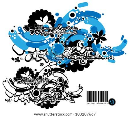 Graffiti style composition - stock vector