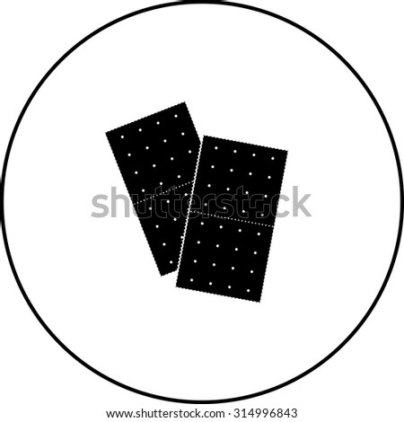 graham crackers symbol - stock vector