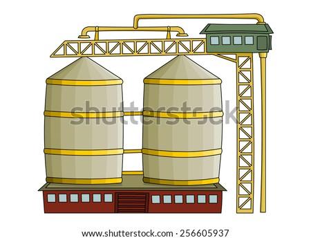 Grain elevator  - stock vector