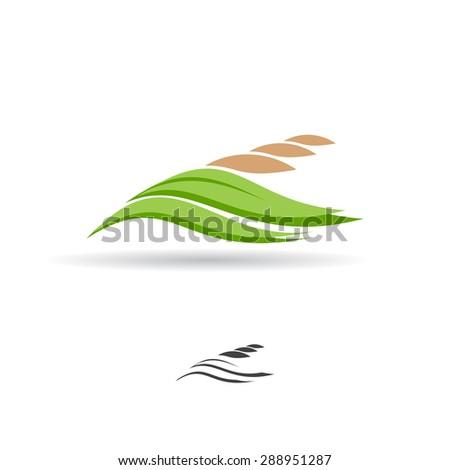Grain logo. Wheat symbol. Vector illustration. - stock vector