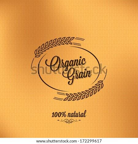 grain organic vintage design background - stock vector