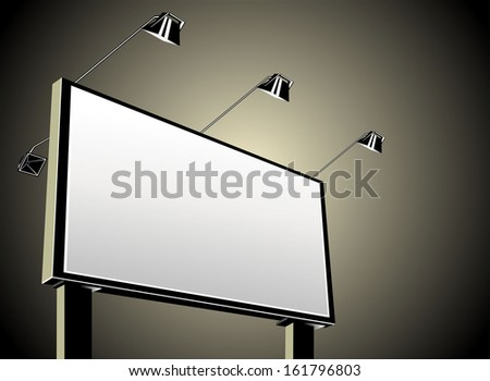 Grand outdoor billboard  - stock vector