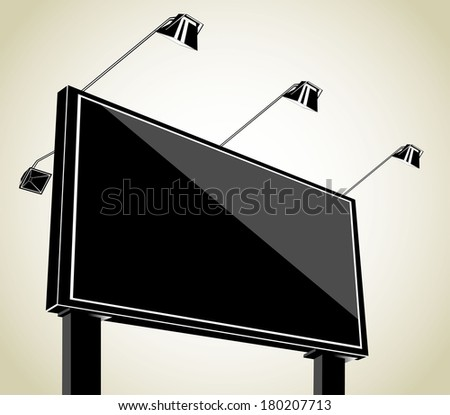 Grand outdoor billboard  - stock vector