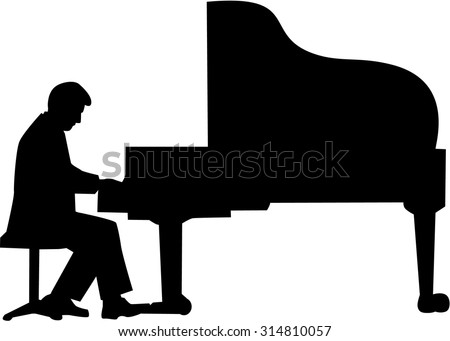 Silhouette Piano Player Stock Photos, Images, & Pictures ...