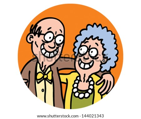 Grandparent - stock vector