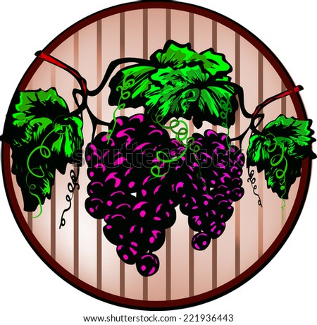Grapes and winery - stock vector