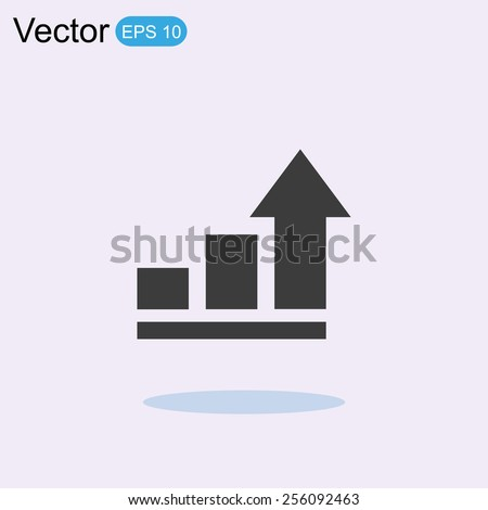 Graph Chart Icon - stock vector