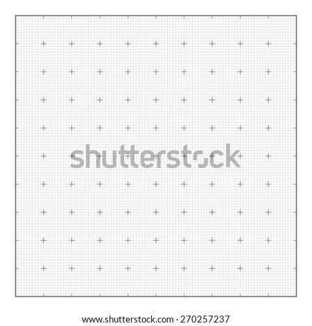Graph grid paper background, seamless vector. Similar to paper - stock vector