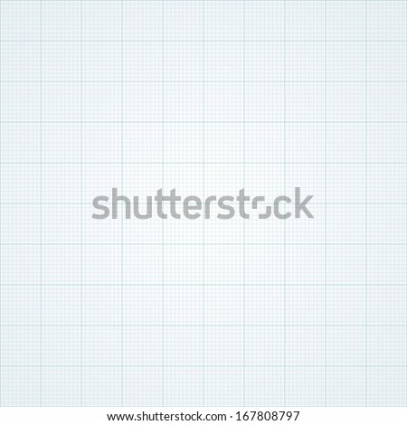 Graph grid paper vector illustration. - stock vector