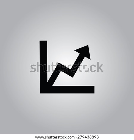 Graph Icon. - stock vector