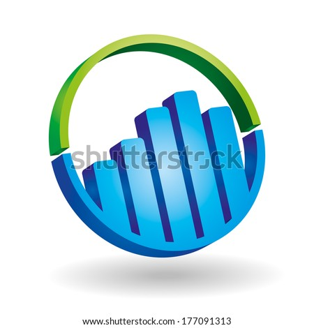 Graph icon - graphics for business template  - stock vector