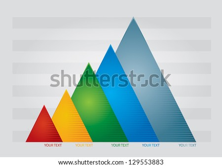Graph of development, illustration with copy space area - stock vector