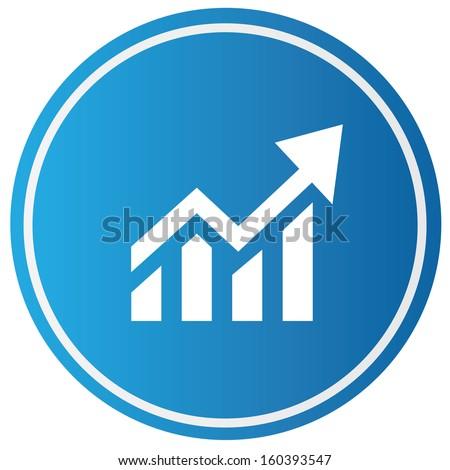 Graph,Profit symbol,vector - stock vector