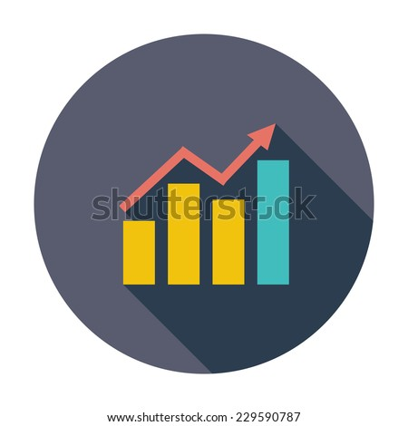 Graph. Single flat color icon. Vector illustration. - stock vector