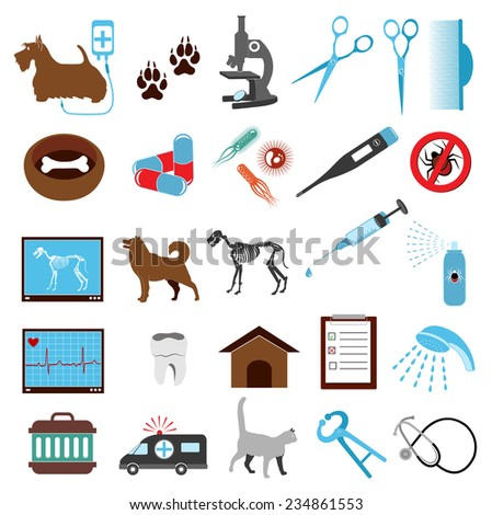 graphic animal veterinary medical icon - stock vector