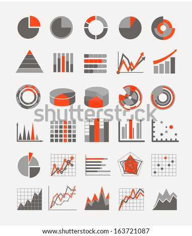 Graphic business ratings and charts. infographic elements - stock vector