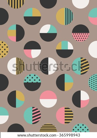 graphic circles seamless pattern. vector illustration - stock vector