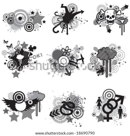 graphic elements - stock vector