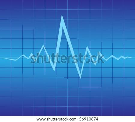 graphic of pulse - stock vector