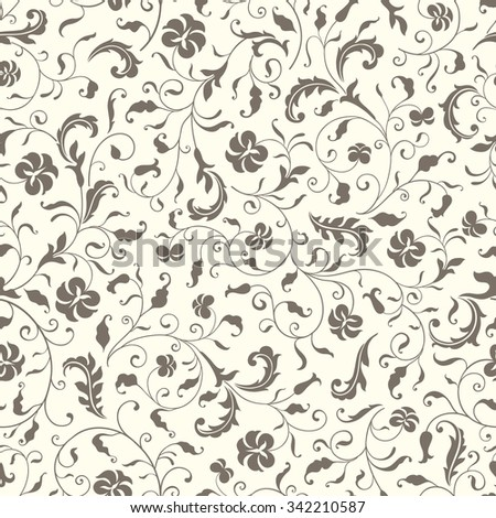 Graphic seamless pattern with stylized flowers. Floral background - stock vector