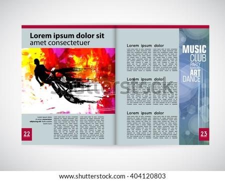 Graphical design magazine template. Vector - stock vector