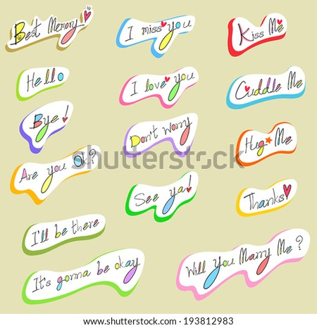 Graphical text typography and wording calligraphy font icon in handwriting illustration, create by vector - stock vector
