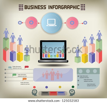 Graphics and computer,vintage,vector - stock vector