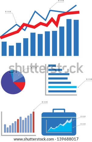 Graphs and Charts - stock vector