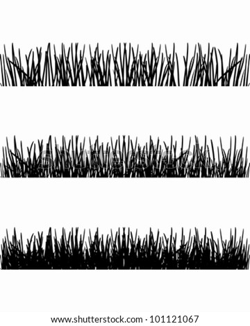 Grass Outline Vector Grass silhouettes - stock