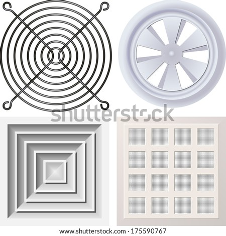 Grate fan - stock vector