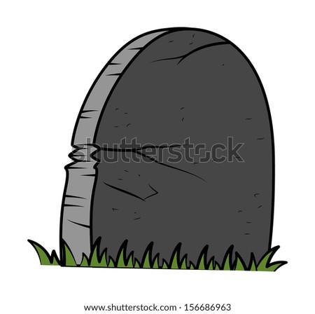 grave - Halloween vector illustration - stock vector